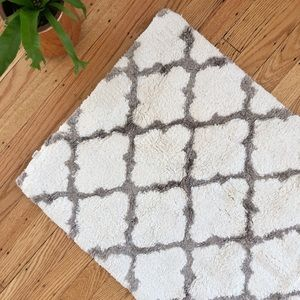 Other - Grey & cream Cost Plus bath mat
